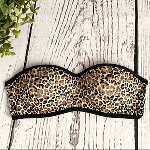 Victoria Secret PINK Leopard Push Up Bandeau Bra